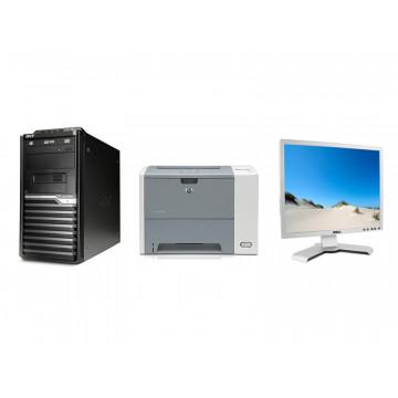 Acer M670G, Core 2 Quad Q9300, 2.5Ghz, 4Gb, 250Gb, DVD-RW + HP 3005DN Printer + LCD Dell 19 Inch