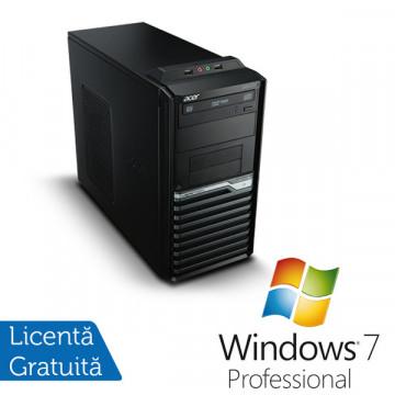Acer Veriton M421G, AMD Athlon II X2 3.0 Ghz, 2Gb DDR2, 250Gb, DVD-ROM + Windows 7 Professional Calculatoare Refurbished
