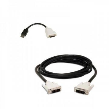 Adaptor cablu DisplayPort to DVI-D + cablu DVI-D to DVI-D Componente Calculator