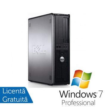 Calculatoare Dell Optiplex 760 SFF, Intel Core 2 Duo E7400, 2.8Ghz, 2Gb DDR2, 160Gb SATA2, DVD-RW + Win 7 Pro Calculatoare Second Hand