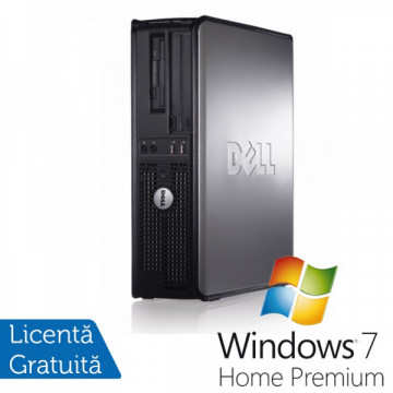 Calculatoare Dell Optiplex GX760 SFF, Intel Core 2 Duo E8400, 3.0Ghz, 4Gb DDR2, 160Gb SATA, DVD-RW + Windows 7 Home Premium Calculatoare Refurbished