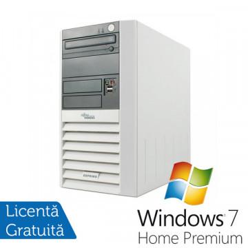 Calculatoare Fujitsu Esprimo P5600, AMD Sempron 3000+, 1.8Ghz, 1Gb DDR, 40Gb HDD, DVD-ROM + Win 7 Premium Calculatoare Second Hand