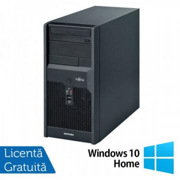 Calculatoare Fujitsu P3521, Intel Core 2 Quad Q6600, 2.40GHz, 4Gb DDR3, 320Gb SATA, DVD-RW + Windows 10 Home Calculatoare Refurbished