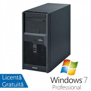 Calculatoare Fujitsu P3521, Intel Core 2 Quad Q6600, 2.40GHz, 4Gb DDR3, 320Gb SATA, DVD-RW + Windows 7 Professional Calculatoare Refurbished