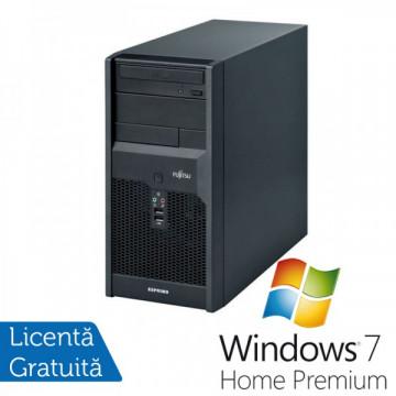 Calculatoare Fujitsu P3521, Intel Dual Core E5800, 3.2GHz, 4Gb DDR3, 320Gb SATA, DVD-RW + Windows 7 Home Premium Calculatoare Refurbished