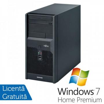 Calculatoare Fujitsu P3521, Intel Dual Core E6600, 3.06GHz, 4Gb DDR3, 320Gb SATA, DVD-RW + Windows 7 Home Premium Calculatoare Refurbished
