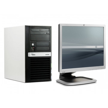 Calculatoare ieftine Fujitsu P5720, Celeron 2.0Ghz, 2Gb, 80Gb, DVD-RW + Monitor LCD 19 inci