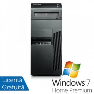 Calculatoare Lenovo Thinkcentre M91p Tower, Intel Core i5-2400, 3.1GHz, 4Gb DDR3, 250Gb HDD, DVD-RW + Windows 7 Home Premium Calculatoare Refurbished