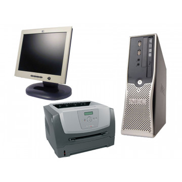 Calculatoare NEC PowerMate VL370, AMD Dual Core 2.3Ghz + HP L1520 + Lexmark E350D
