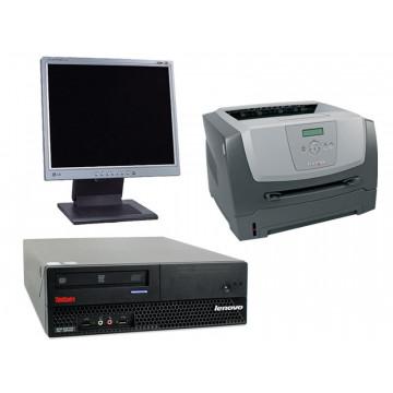 Calculatoare Sh IBM M57, Core 2 Duo E6600, 2.4Ghz + LCd 17 inci grad A lux + Imprimanta Lexmark E350D