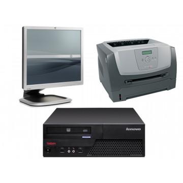 Calculatoare SH IBM M58, Dual Core E2220, 2.4Ghz + Monitor 19 inci + Imprimanta Lexmark E350D