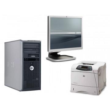 Calculator Dell 745, Core 2 Duo E6600, 2.4Ghz + LCD 19 inci grad A lux  +  Imprimanta HP 4200DN