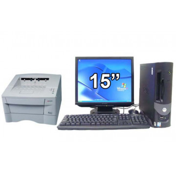 Calculator DELL GX280 + Monitor lcd sh diagonala 15 + Imprimanta Kyocera FS1020D