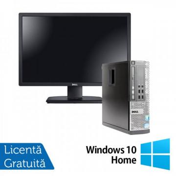 Calculator DELL OptiPlex 3010, SFF, Intel Core i5-3450, 3.10 GHz, 4 GB DDR3, 250GB SATA, DVD-RW + Windows 10 Home + Monitor DELL P2212H