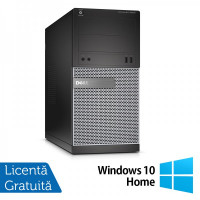 Calculator DELL Optiplex 3020 Tower, Intel Core i3-4130 3.40GHz, 8GB DDR3, 500GB SATA, Placa video Gaming AMD Radeon R7 350 4GB GDDR5 128-Bit, DVD-ROM + Windows 10 Home