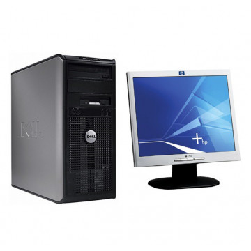 Calculator Dell Optiplex 360, Intel Dual Core E5200, 2.5 Ghz, 2Gb, DDR2, 160GB, DVD-RW + Monitor 17 inch, 1280 x 1024 All In One