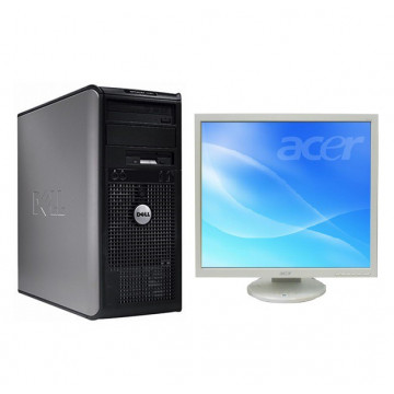 Calculator Dell Optiplex 360, Intel Dual Core E5200, 2.5 Ghz, 2Gb, DDR2, 160GB, DVD-RW + Monitor 19 inch, 1280 x 1024, 16.7 milioane culori All In One