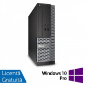 Calculator DELL OptiPlex 7010 SFF, Intel Core i7-3770 Gen a 3-a 3.40GHz, 8GB DDR3, 500GB SATA, DVD-RW + Windows 10 Pro Calculatoare Refurbished