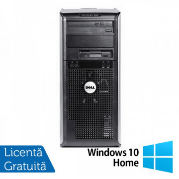 Calculator DELL Optiplex GX360, Intel Pentium Dual Core E2220, 2.4 GHz, 2GB DDR2, 160GB SATA, DVD-RW + Windows 10 Home