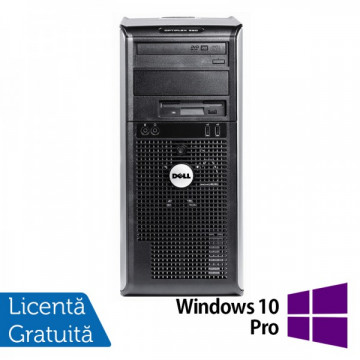 Calculator DELL Optiplex GX360, Intel Pentium Dual Core E2220, 2.4 GHz, 2GB DDR2, 160GB SATA, DVD-RW + Windows 10 Pro