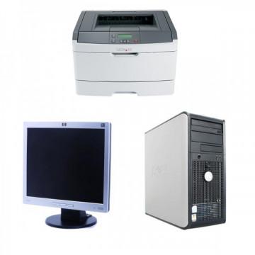 Calculator DELL Optiplex GX740 Tower, AMD Athlon x2 4450B, 2.30GHz, 2GB DDR2, 80GB SATA, DVD-ROM + Monitor HP L1706 Grad A- + Imprimanta LEXMARK E360D Oferte Pachete IT