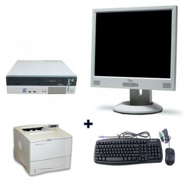 Calculator Fujitsu Siemens E600 + Monitor lcd 15 + Imprimanta Laser