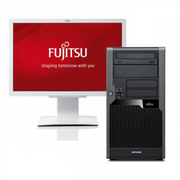 Calculator FUJITSU SIEMENS Esprimo P9900, Intel Core i5-650, 3.20 GHz, 4 GB DDR3, 250GB SATA, DVD-RW + Monitor FUJITSU SIEMENS B22W-5