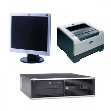Calculator HP 6000 Pro, SFF, Intel Pentium Dual Core E5700, 3.00 GHz, 4 GB DDR3, 250GB SATA, DVD-ROM + Monitor HP L1706 Grad A- + Imprimanta BROTHER HL-5240 Oferte Pachete IT