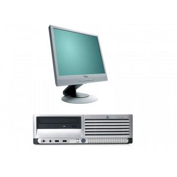 Calculator HP DC7700, Core 2 Duo E6300, 1.86Ghz, 1Gb, 80Gb + Monitor LCD 17 inci, diverse modele