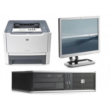 Calculator HP DC7800, E6550 2.33Ghz + LCD 17 inci grad A lux + Imprimanta HP 2015D