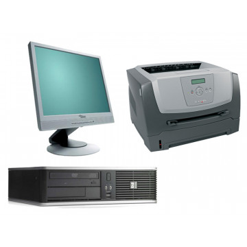 Calculator HP DC7900, Core 2 Duo E7300, 2.66Ghz + LCD 17 inci + Imprimanta Laser Lexmark E350D