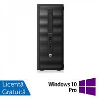 Calculator HP EliteDesk 800G1 Tower, Intel Core i5-4570 3.20GHz, 4GB DDR3, 500GB SATA, DVD-ROM+ Windows 10 Pro