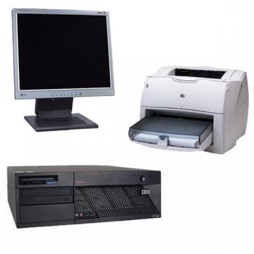 Calculator IBM Desktop + Monitor lcd 15 inch + HP 1300