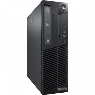Calculator LENOVO ThinkCentre M70e SFF, Intel Core 2 Duo E7400 2.80 GHz, 4GB DDR3, 160GB SATA, DVD-RW Calculatoare Second Hand