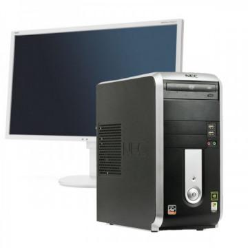 Calculator NEC PowerMate VL360 Tower, AMD Athlon 64 3800+ 2.4 GHz, 4 GB DDR2, 250GB SATA, DVD-ROM + Monitor NEC EA223W