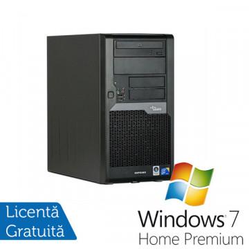 Computer Fujitsu Esprimo P5730, Intel Pentium Dual Core E2200, 2.2Ghz, 2Gb, 160Gb, DVD-RW + Windows 7 Premium Calculatoare Refurbished