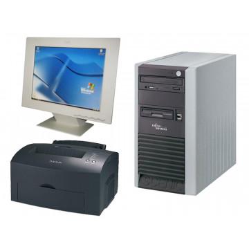 Computer Fujitsu P300, Celeron 2.6Ghz, 1Gb, 80Gb + LCD 15 inci + Lexmark E323