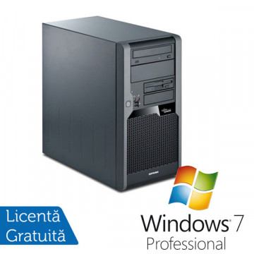 Computer Fujitsu Siemens P7935, Core 2 Duo E7400 2.8Ghz, 3Gb DDR2, 160Gb SATA, DVD-ROM + Win 7 Pro Calculatoare Second Hand