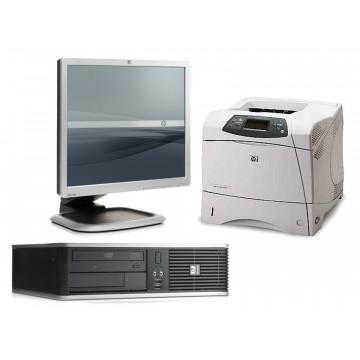 Computer HP DC7900, Core 2 Duo E7300, 2.66Ghz + LCD 19 inci + Imprimanta Sh HP 4200