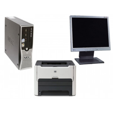 Computer Nec ML460, Core 2 Duo, 2.4Ghz, 1Gb, 80Gb + LCD 17 inci + Imprimanta Laser HP 1320