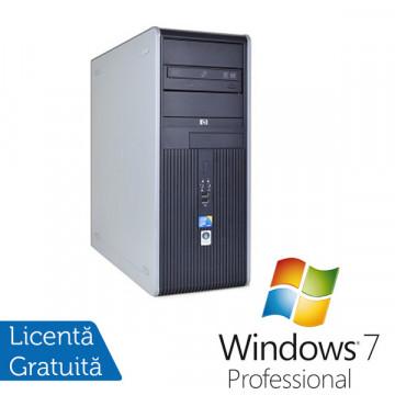 Computere Refurbished HP DC7900, Intel Core 2 Quad Q8200, 2.33Ghz, 4Gb DDR2, 250Gb HDD, DVD-RW + Windows 7 Professional Calculatoare Refurbished