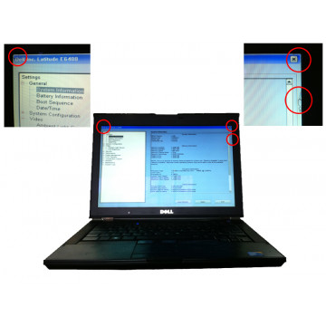 Dell Latitude E6400 ATG, Core 2 Duo P8600, 2.4Ghz, 4Gb, 160Gb SATA, DVD-RW, mici probleme display Laptopuri Second Hand