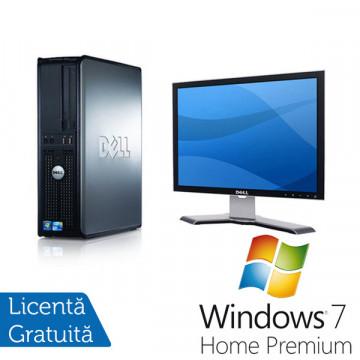 Dell Optiplex 380, Celeron 450, 2.2Ghz, 2Gb DDR3, 160Gb, DVD-RW + Win 7 Premium + LCD 19 inci Dell 1908 Calculatoare Second Hand