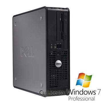 Dell Optiplex 745, Core 2 Duo E6300 1.86Ghz, 2Gb , 80Gb, DVD-ROM + Win 7 Pro Calculatoare Second Hand