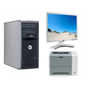 Dell OptiPlex 745, Core 2 Duo E6300 1.86Ghz + LCD 19 inci DELL + Imprimanta HP 3005N