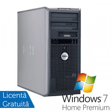 Dell Optiplex 745 Tower, Intel Core 2 Duo E6300, 1.86Ghz, 2Gb DDR2, 160Gb SATA, DVD-RW + Win 7 Premium Calculatoare Refurbished