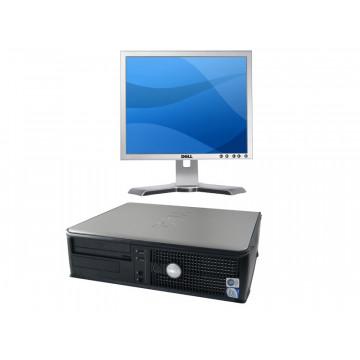 Dell Optiplex 755 Desktop, Core 2 Duo E6600, 2.4Ghz, 2Gb, 80Gb, DVD-ROM + LCD 17 inci Dell Grad A