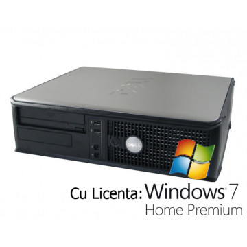 Dell Optiplex 755 Desktop, Core 2 Duo E6600, 2.4Ghz, 2Gb, 80Gb, DVD-ROM + Win 7 Home Calculatoare Second Hand