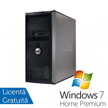 Dell Optiplex 755, Intel Pentium Dual Core E5300, 2.6Ghz, 2Gb DDR2, 160Gb HDD, DVD-RW + Win 7 Professional Calculatoare Refurbished