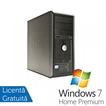 Dell Optiplex 760, Intel Core 2 Duo E8400 3.0Ghz, 4Gb DDR2, 250Gb HDD, DVD-ROM + Windows 7 Premium Calculatoare Refurbished